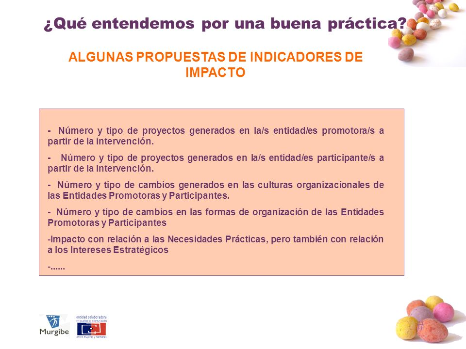 ALGUNAS PROPUESTAS DE INDICADORES DE IMPACTO