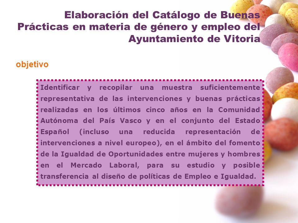 Elaboración del Catálogo de Buenas Prácticas en materia de género y empleo del Ayuntamiento de Vitoria