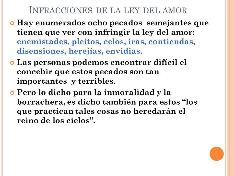 Infracciones de la ley del amor