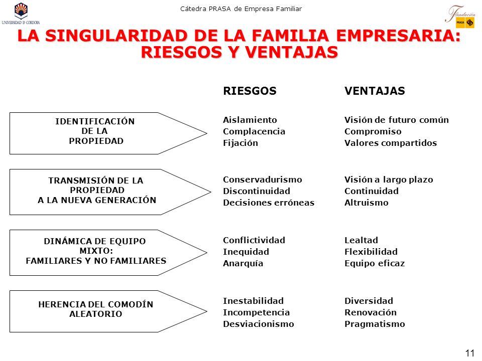 LA SINGULARIDAD DE LA FAMILIA EMPRESARIA: RIESGOS Y VENTAJAS