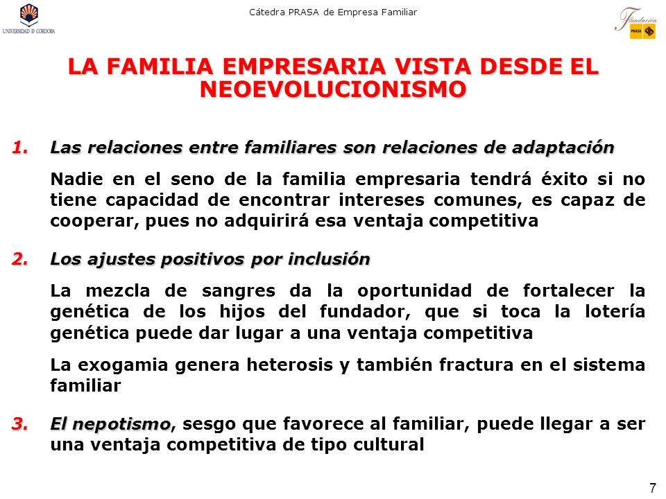 LA FAMILIA EMPRESARIA VISTA DESDE EL NEOEVOLUCIONISMO