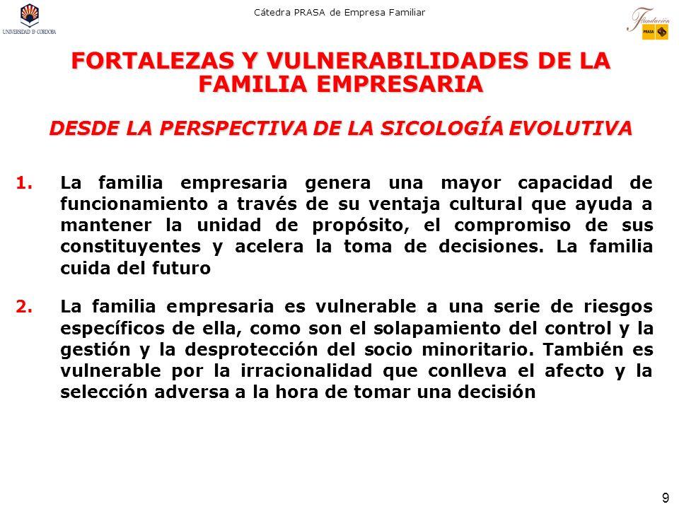 FORTALEZAS Y VULNERABILIDADES DE LA FAMILIA EMPRESARIA DESDE LA PERSPECTIVA DE LA SICOLOGÍA EVOLUTIVA