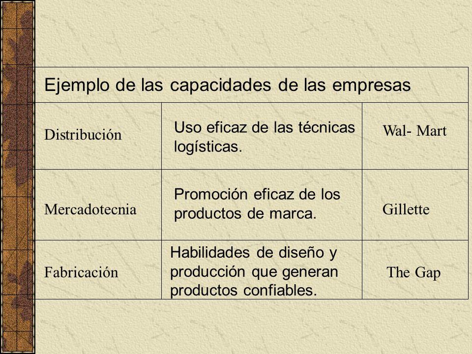 Ejemplo de las capacidades de las empresas