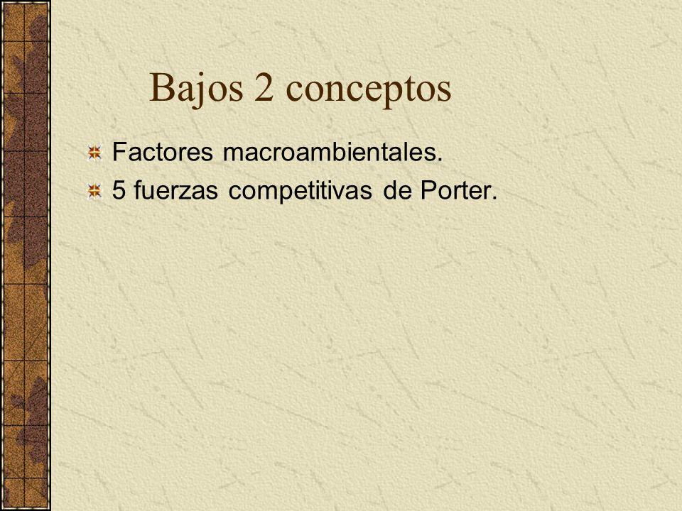 Bajos 2 conceptos Factores macroambientales.