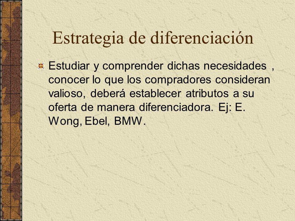 Estrategia de diferenciación