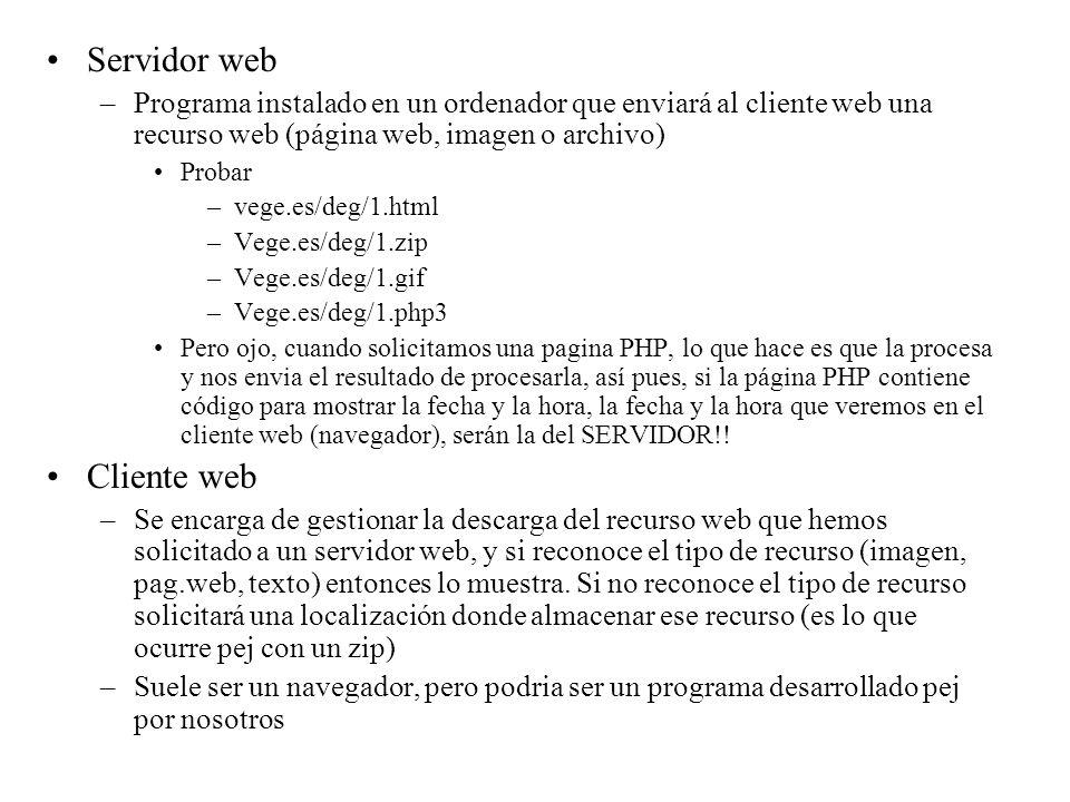 Servidor web Cliente web