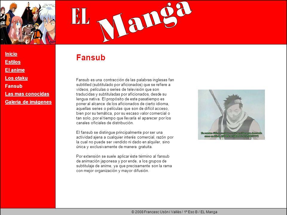 Manga EL Fansub Inicio Estilos El anime Los otaku Fansub