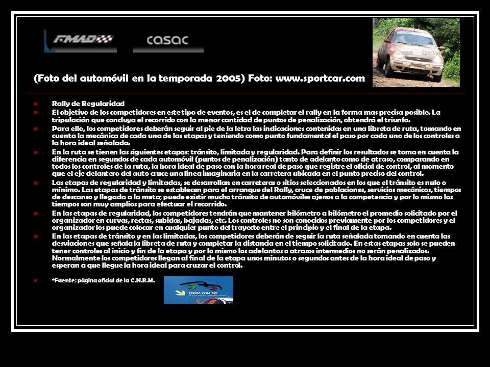 (Foto del automóvil en la temporada 2005) Foto: www.sportcar.com