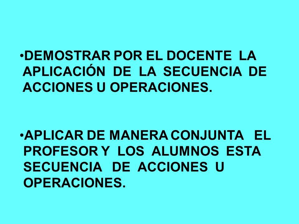 DEMOSTRAR POR EL DOCENTE LA