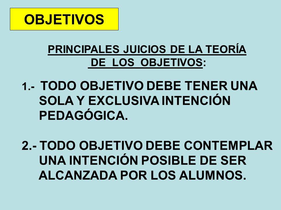 PRINCIPALES JUICIOS DE LA TEORÍA