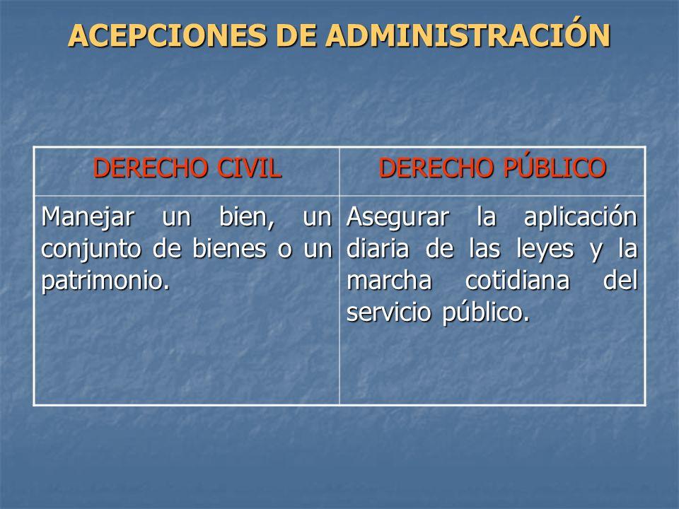 ACEPCIONES DE ADMINISTRACIÓN
