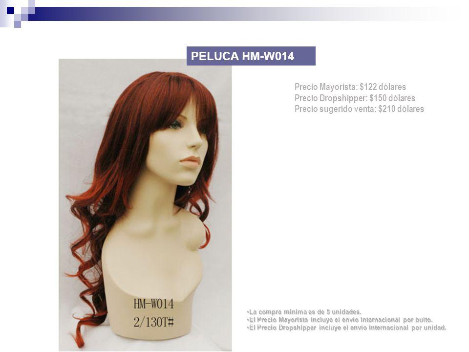 PELUCA HM-W014 Precio Mayorista: $122 dólares
