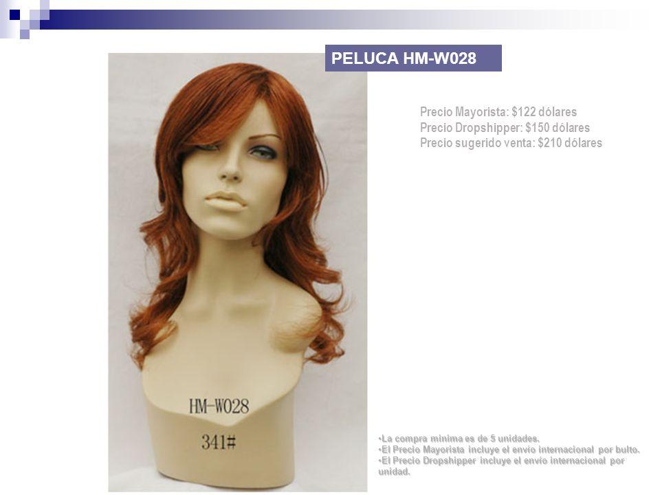 PELUCA HM-W028 Precio Mayorista: $122 dólares