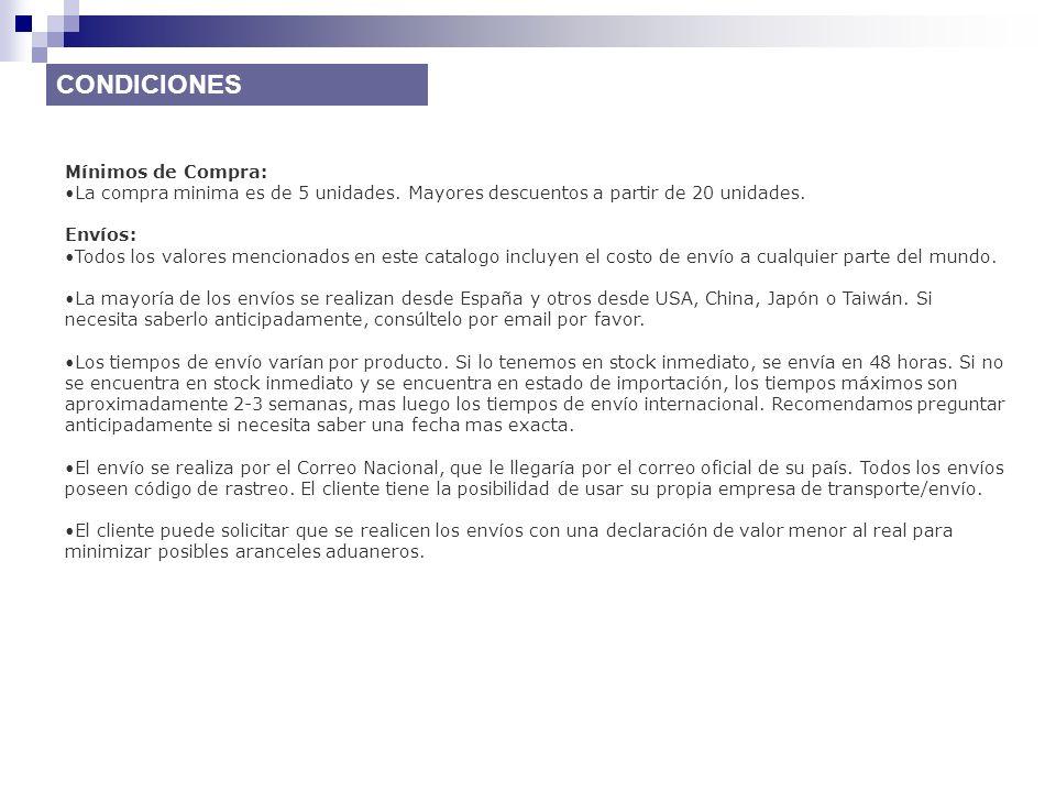 CONDICIONES Mínimos de Compra: