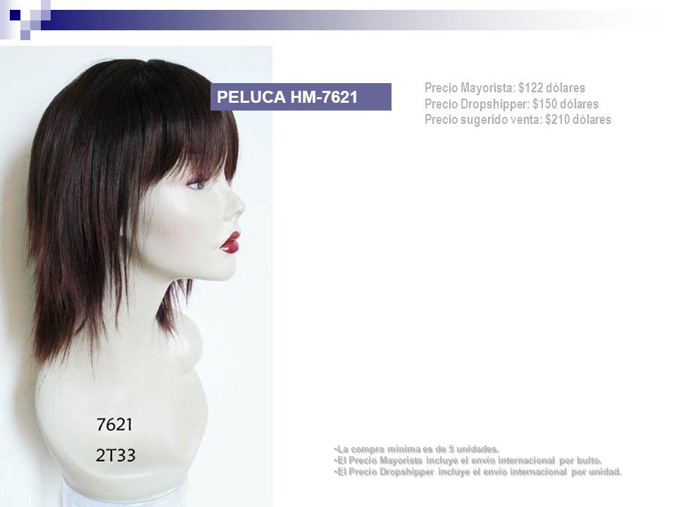 PELUCA HM-7621 Precio Mayorista: $122 dólares