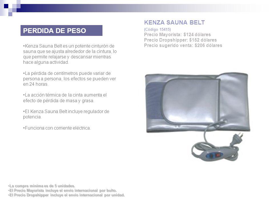 PERDIDA DE PESO KENZA SAUNA BELT Precio Mayorista: $124 dólares