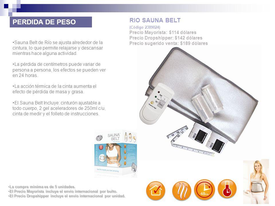 PERDIDA DE PESO RIO SAUNA BELT Precio Mayorista: $114 dólares