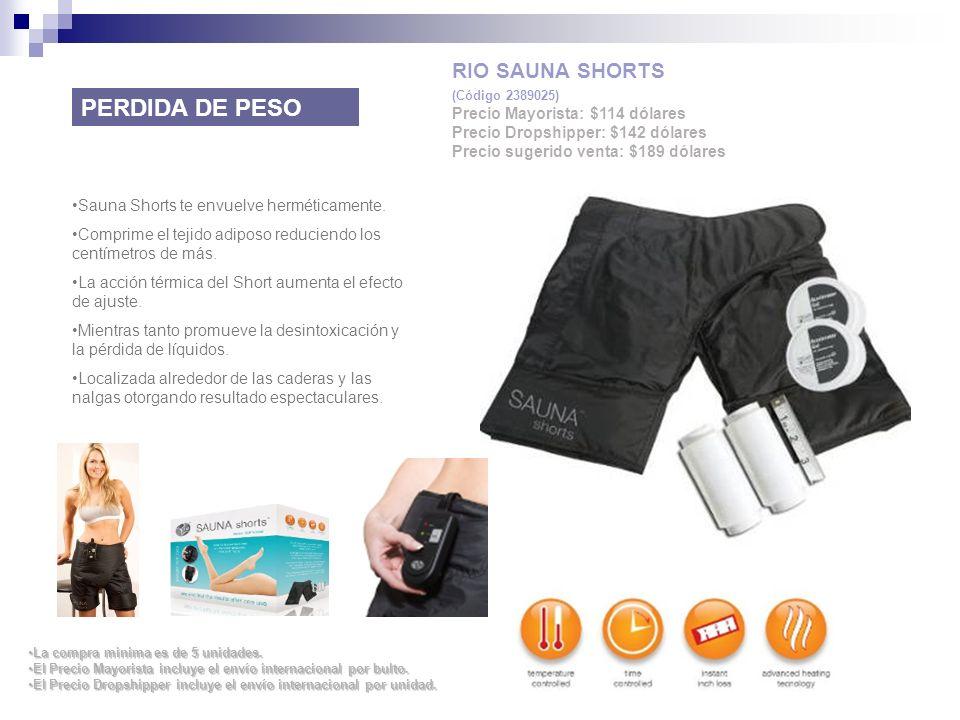 PERDIDA DE PESO RIO SAUNA SHORTS Precio Mayorista: $114 dólares