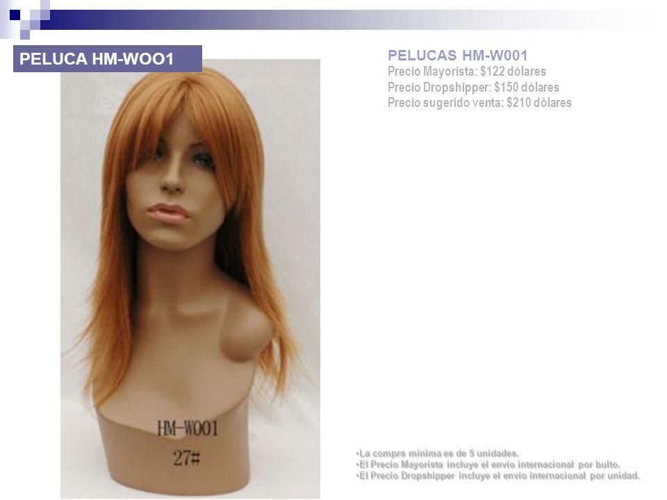 PELUCA HM-WOO1 PELUCAS HM-W001 Precio Mayorista: $122 dólares