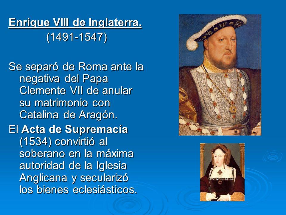Enrique VIII de Inglaterra.