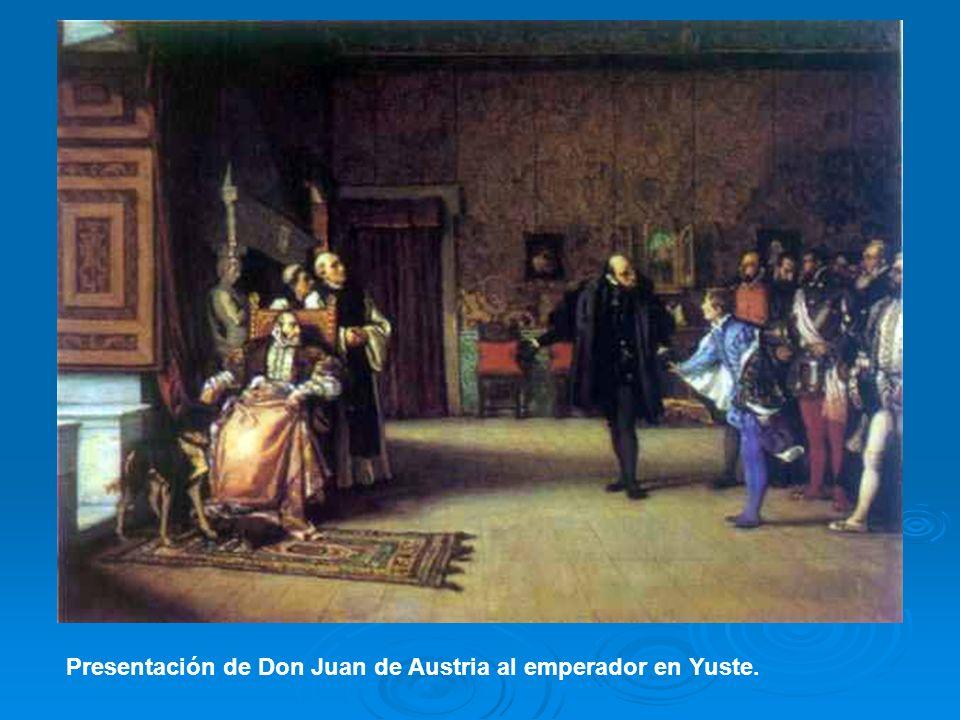 Presentación de Don Juan de Austria al emperador en Yuste.