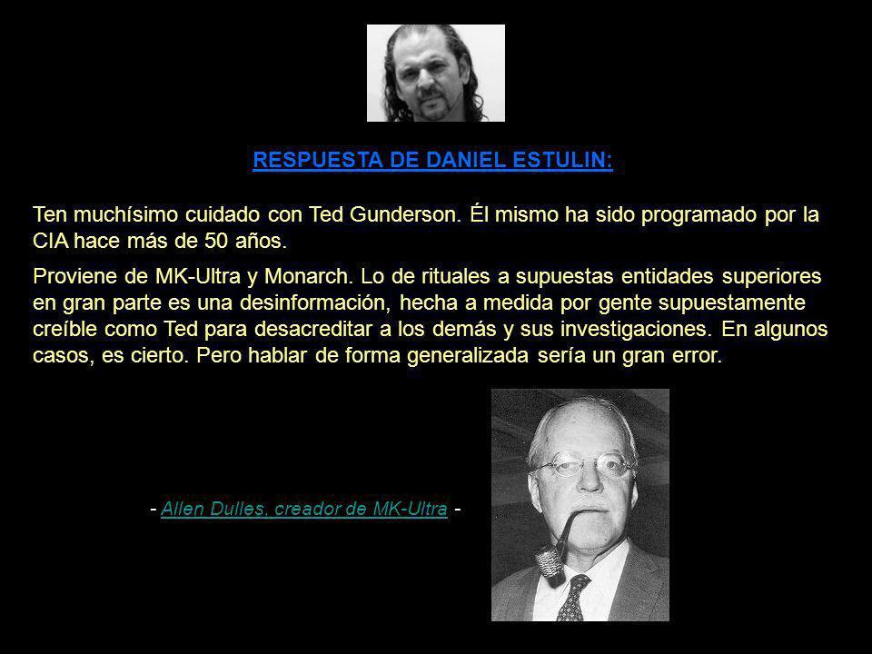 - Allen Dulles, creador de MK-Ultra -