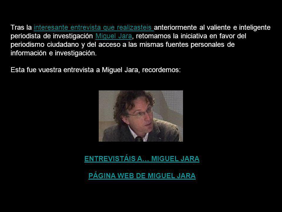 PÁGINA WEB DE MIGUEL JARA
