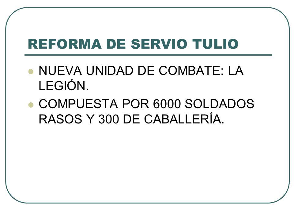 REFORMA DE SERVIO TULIO