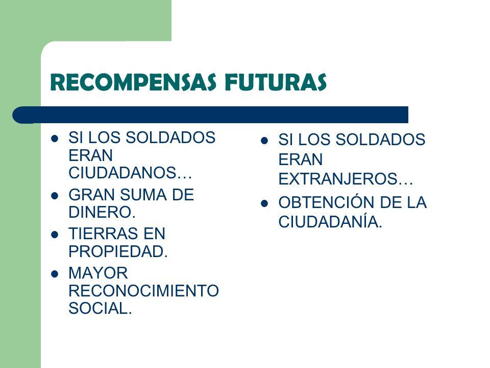 RECOMPENSAS FUTURAS SI LOS SOLDADOS ERAN CIUDADANOS…