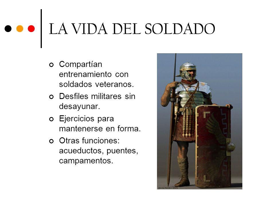 LA VIDA DEL SOLDADO Compartían entrenamiento con soldados veteranos.