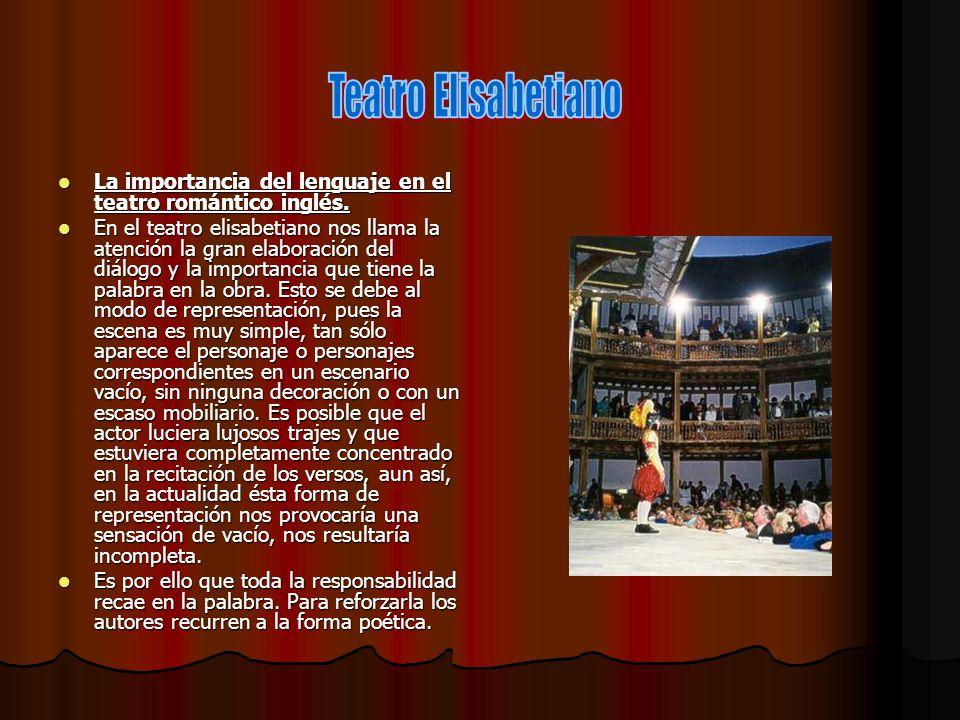 Teatro Elisabetiano La importancia del lenguaje en el teatro romántico inglés.
