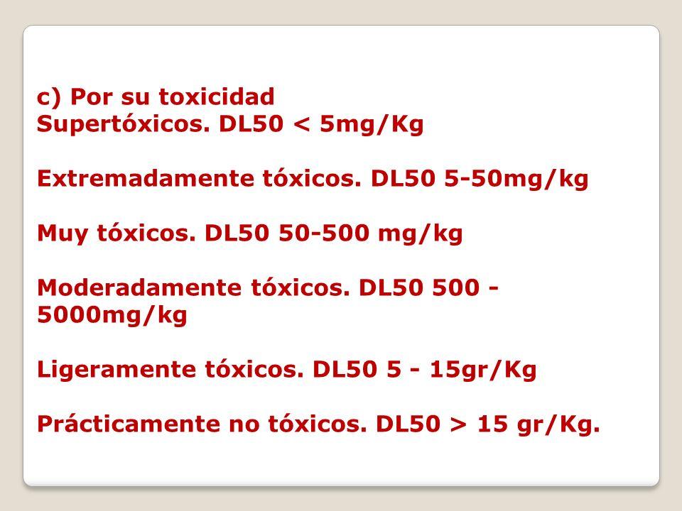 c) Por su toxicidad