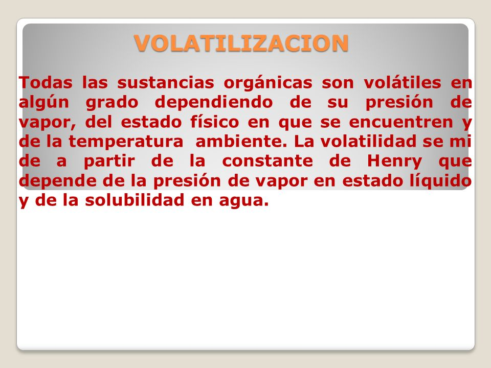 VOLATILIZACION