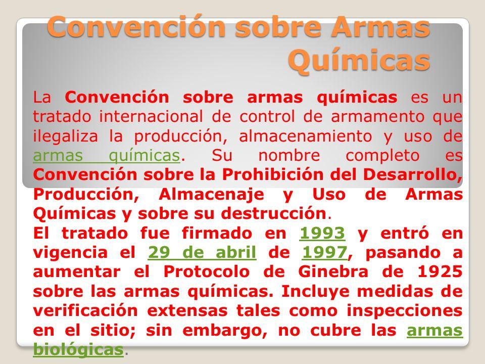 Convención sobre Armas Químicas