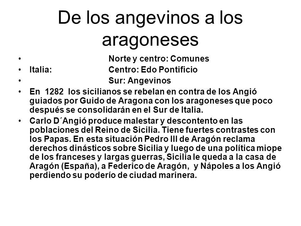 De los angevinos a los aragoneses