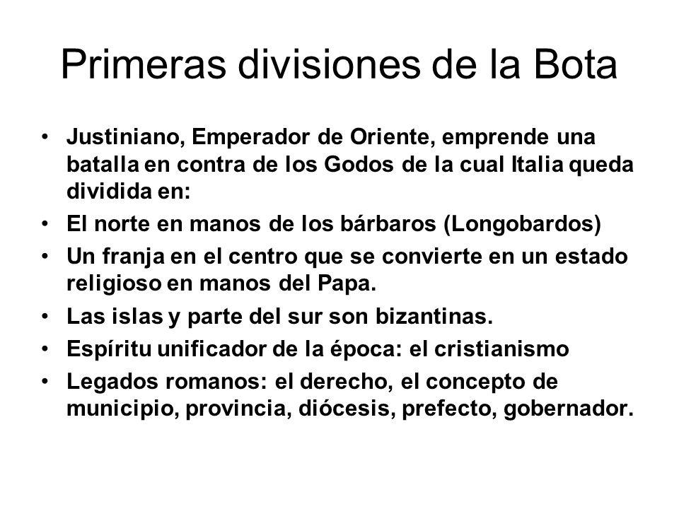 Primeras divisiones de la Bota