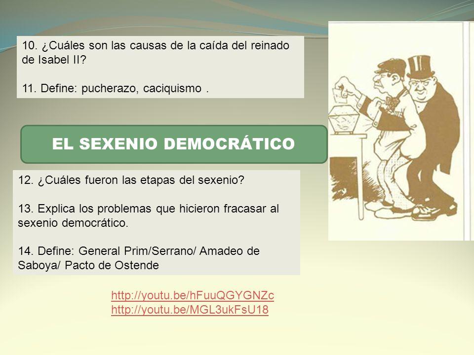EL SEXENIO DEMOCRÁTICO