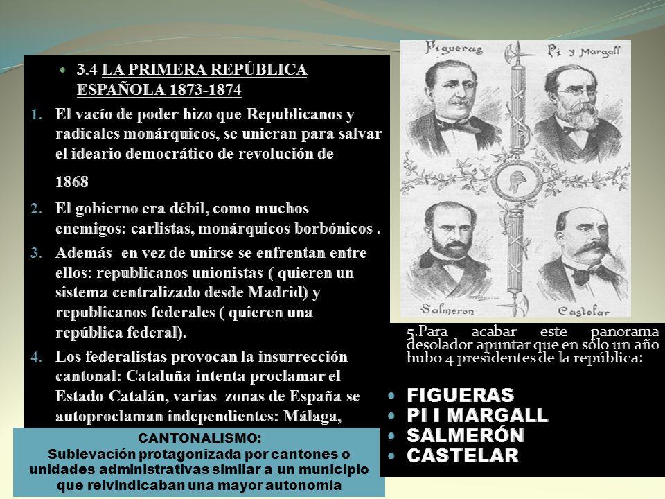 FIGUERAS PI I MARGALL SALMERÓN CASTELAR