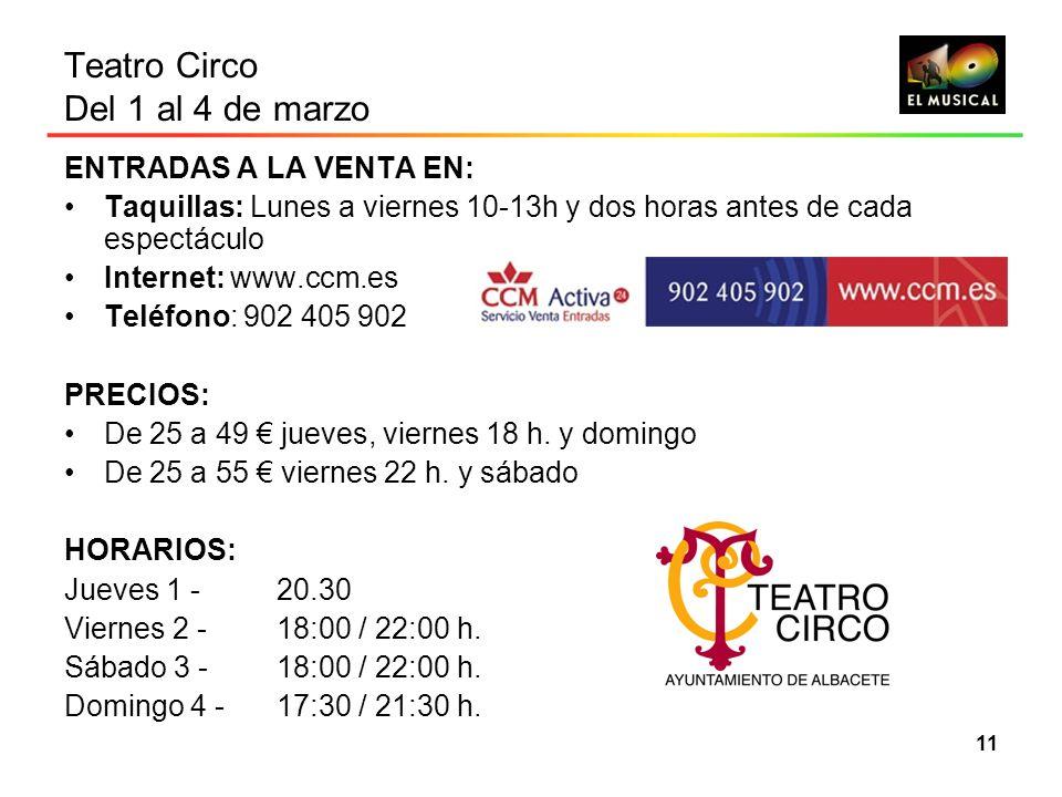 Teatro Circo Del 1 al 4 de marzo