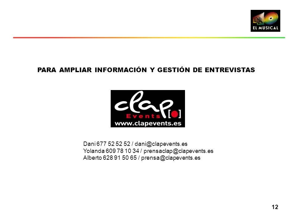 PARA AMPLIAR INFORMACIÓN Y GESTIÓN DE ENTREVISTAS