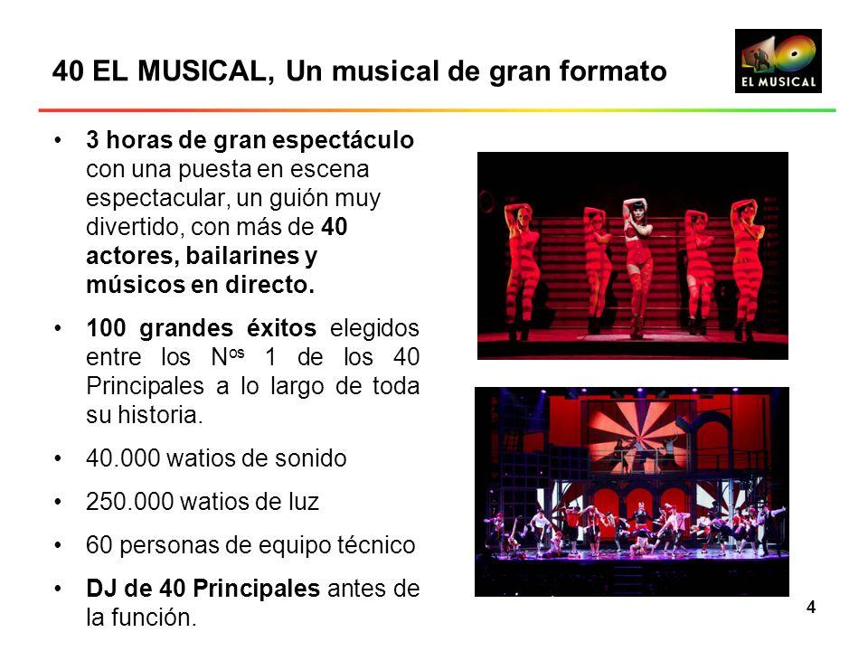 40 EL MUSICAL, Un musical de gran formato