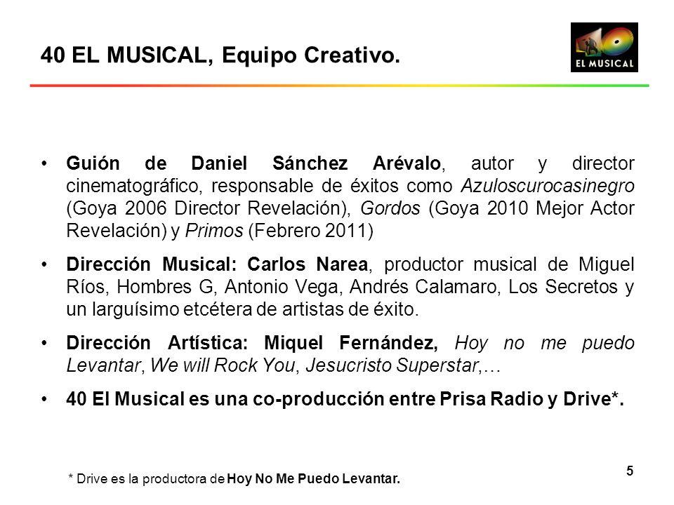 40 EL MUSICAL, Equipo Creativo.