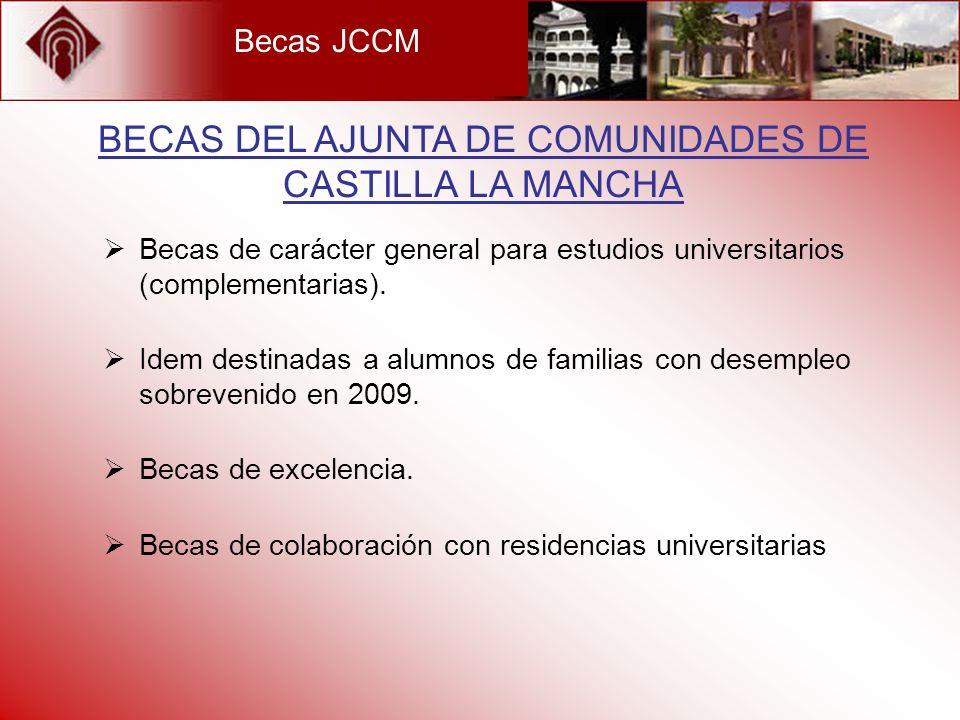 BECAS DEL AJUNTA DE COMUNIDADES DE CASTILLA LA MANCHA