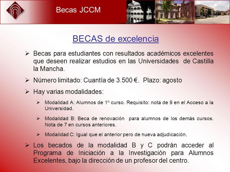BECAS de excelencia Becas JCCM