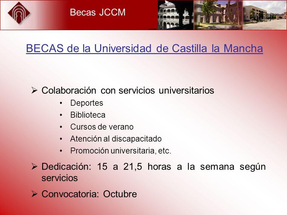 BECAS de la Universidad de Castilla la Mancha