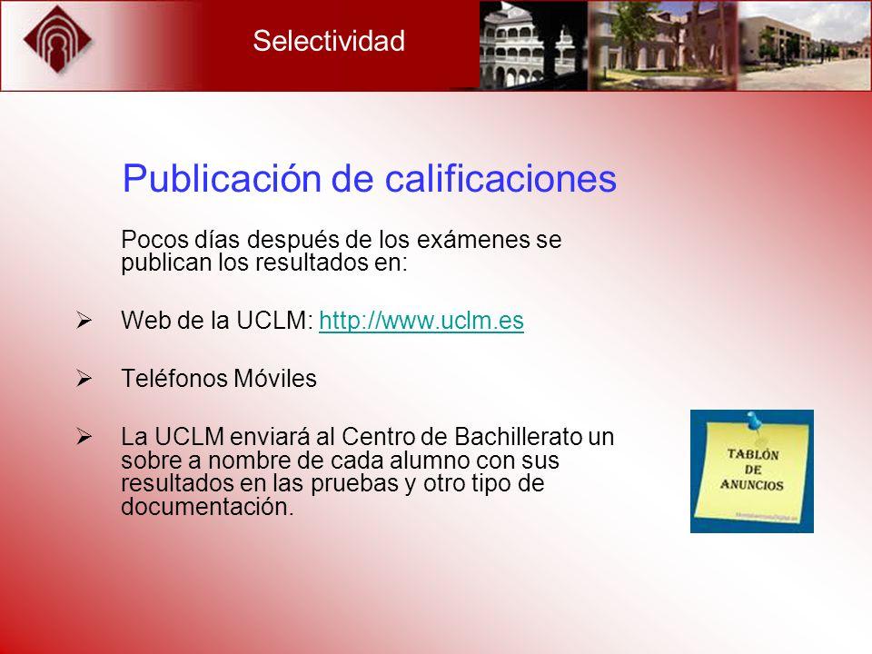 Publicación de calificaciones