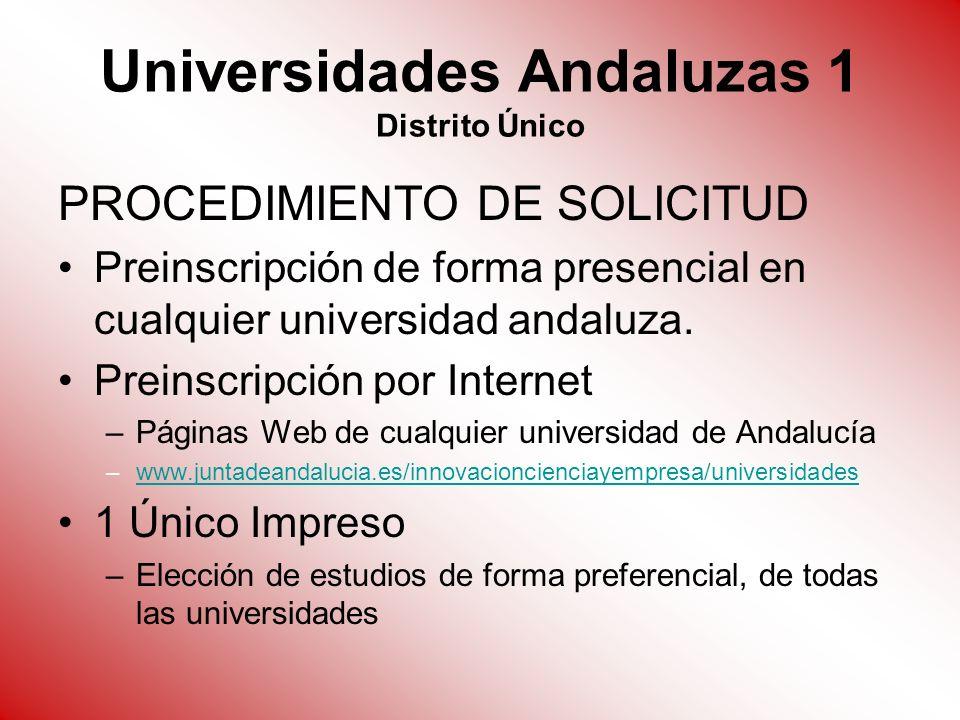 Universidades Andaluzas 1 Distrito Único