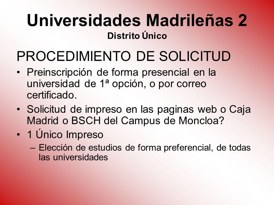 Universidades Madrileñas 2 Distrito Único