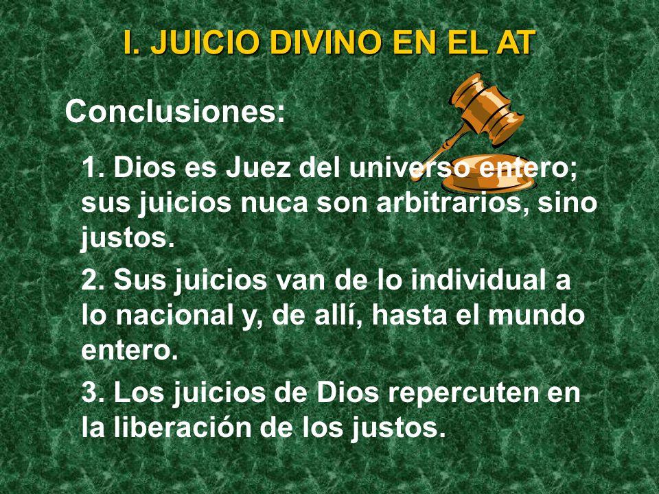 I. JUICIO DIVINO EN EL AT Conclusiones: