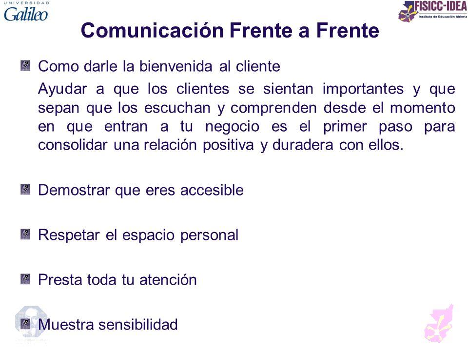 Comunicación Frente a Frente